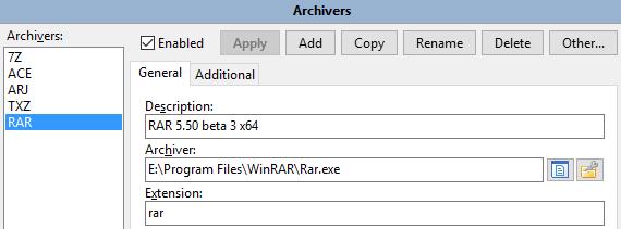 DC - External archivers